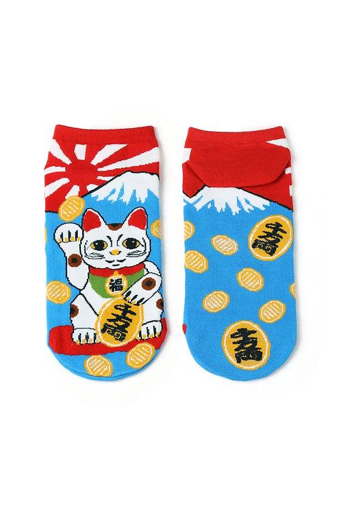 Fortune Cat Ankle Socks