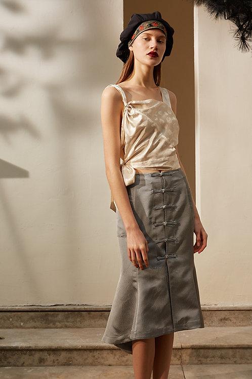 Rimless | Grey Mermaid-style Skirt