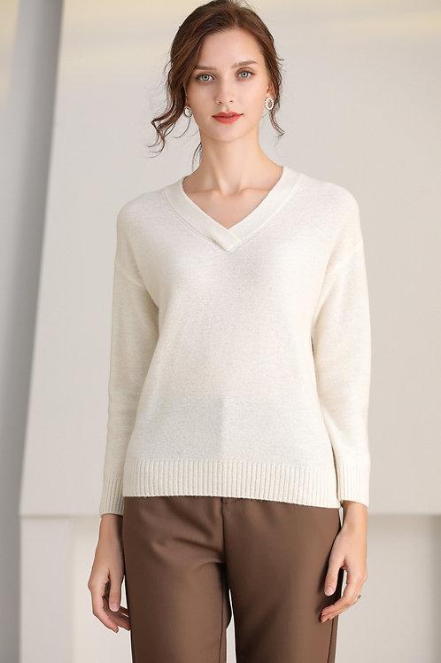 Ecru Emissary | White Marcella Wool Sweater