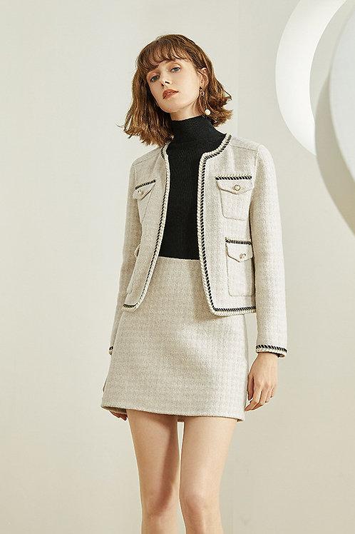 FANSILANEN | Pearl Checkered  Coat