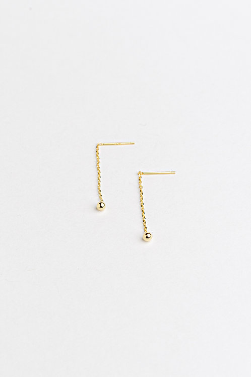 Golden Line Earrings