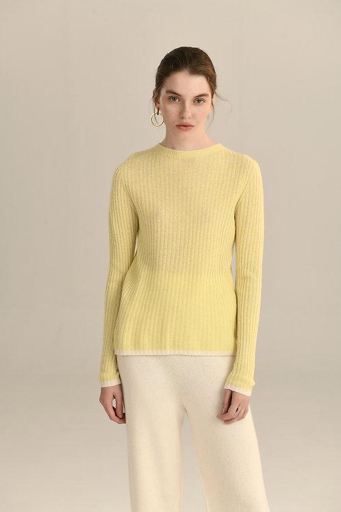 Ecru Emissary | Yello Lola Seamless Knitting Wool Sweater
