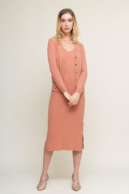 Ecru Emissary | Pink Helena Wool Cardigan