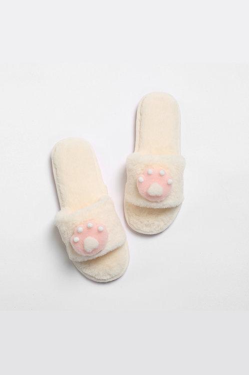 Lykke Home | White Paw Slippers