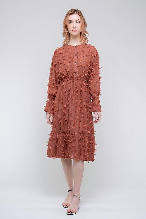 Ecru Emissary | Caramel Midi Dress