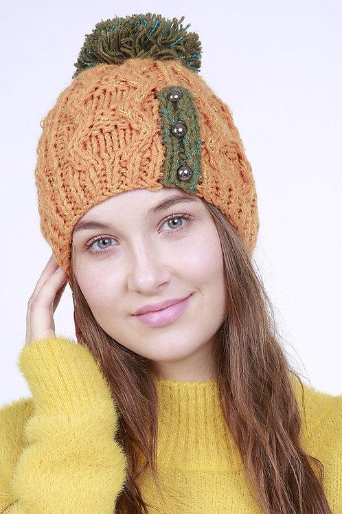 Ecru Emissary | Pumpkin Beanie