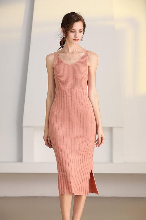 Ecru Emissary | Pink Ida Wool Dress