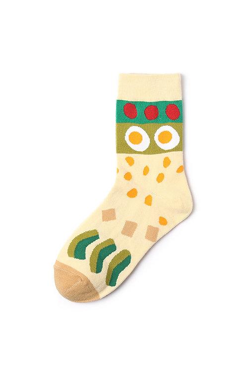 Food Mid Calf Socks