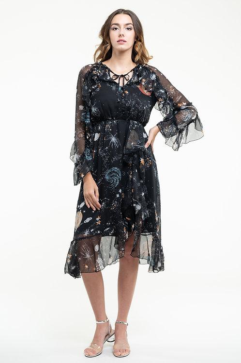 Ecru Emissary | Starry Sky Midi Dress