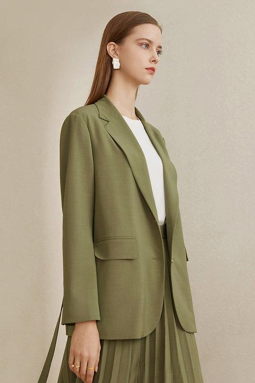 FANSILANEN|Olive Tie Blazer