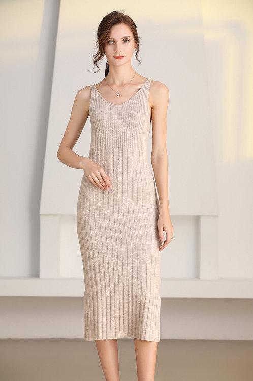 Ecru Emissary | Beige Ida Wool Dress