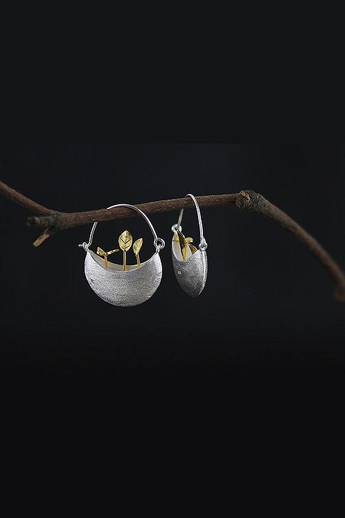 Tiny Flowerpot Earrings