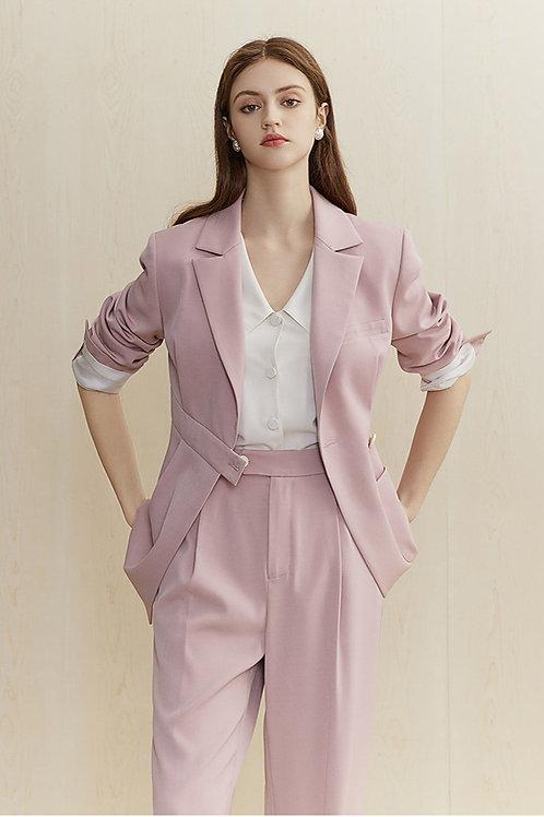 FANSILANEN|Asymmetric Rose Blazer