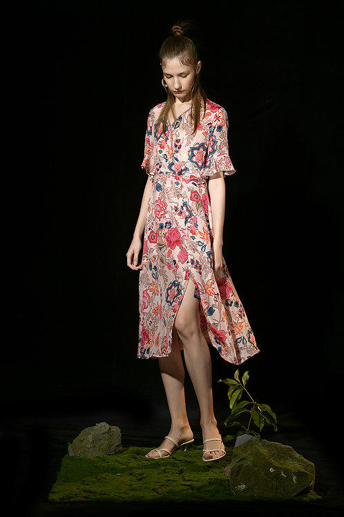 Ecru Emissary | Rachel Floral Dress