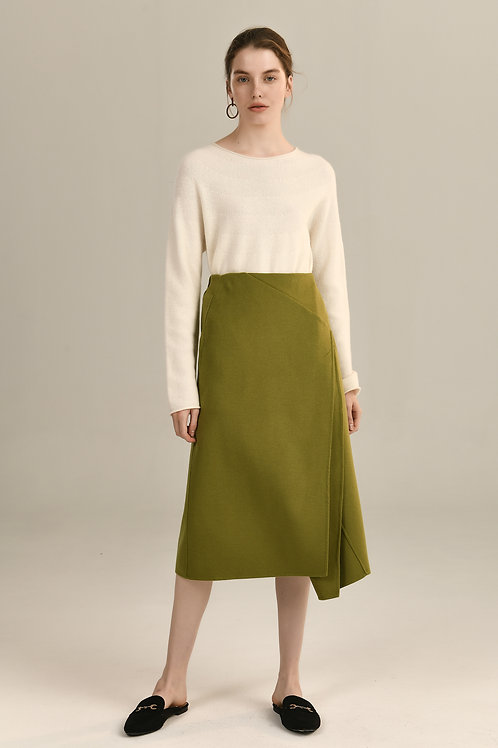 Ecru Emissary | Emmeline Wool Skirt