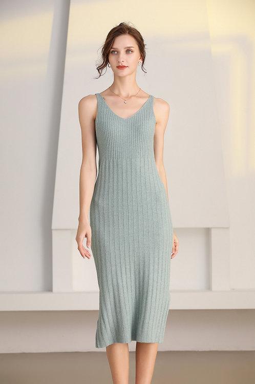 Ecru Emissary | Green Ida Wool Dress