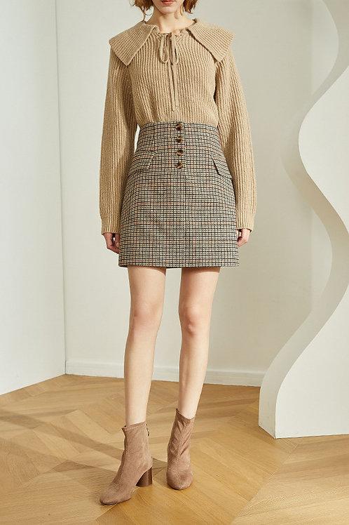 FANSILANEN | Gingham Mini Skirt