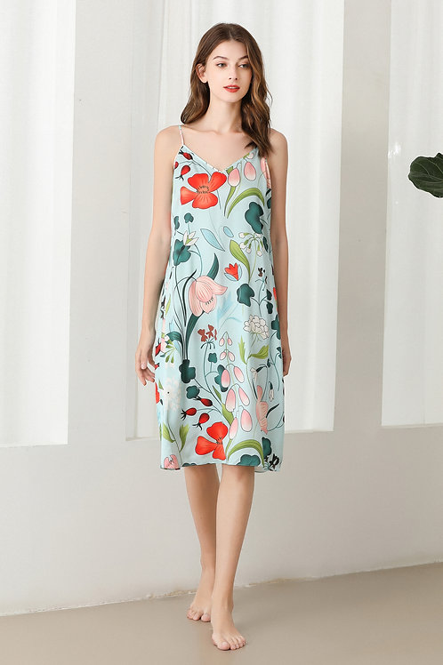 Lykke Home | 19 Momme Mulberry Silk Floral Dress