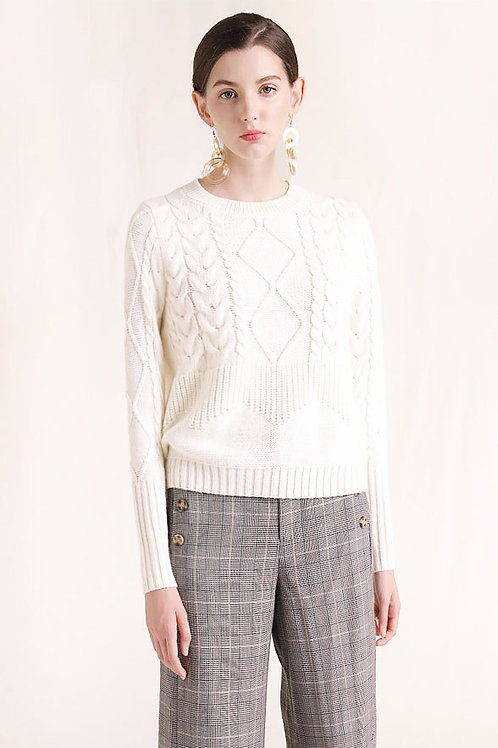 Ecru Emissary | White Emilia Sweater