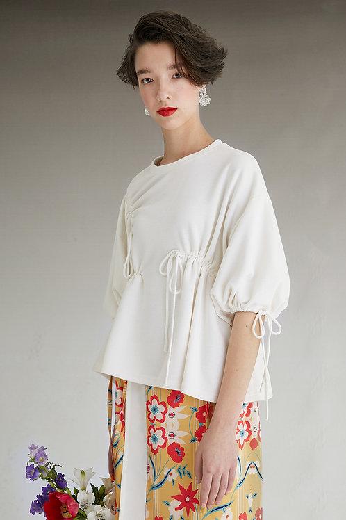 Fussed | Almond Ruffle Puff Sleeve T-shirt