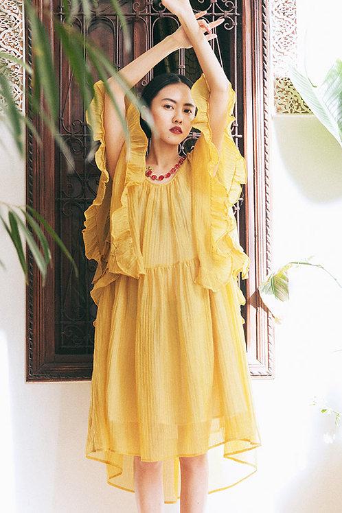 MOLIFUSU | Yellow Hypericum Dress