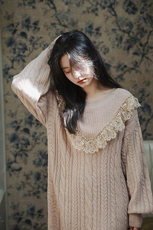 MOLIFUSU | Lace Mermaid Knit Dress