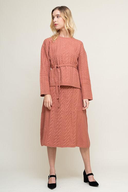 Ecru Emissary | Pink Dabria Wool Blend Set