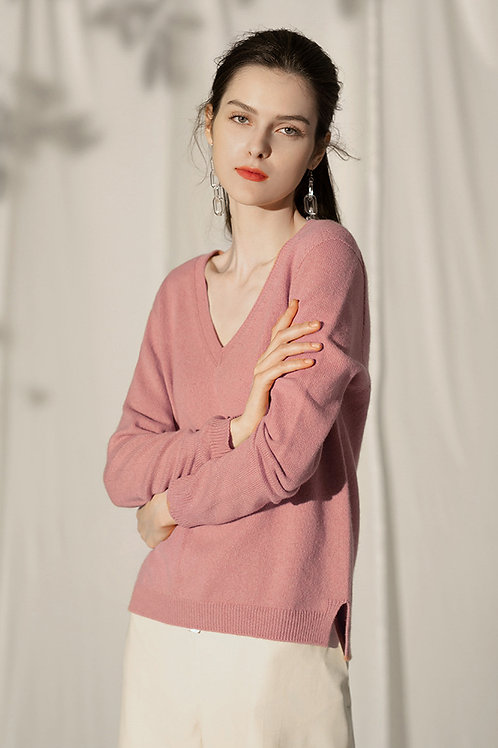 Ecru Emissary | Pink Alyssa Wool Sweater