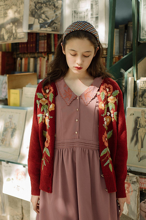 MOLIFUSU | Rose Embroidered Cardigan