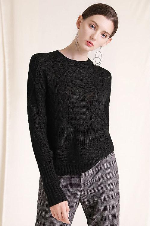 Ecru Emissary | Black Emilia Sweater