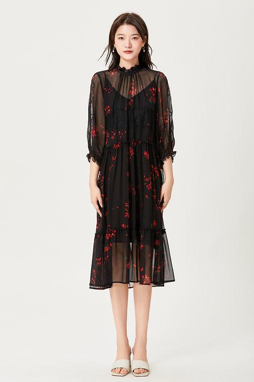 Ecru Emissary   Jocelyn Silk Dress