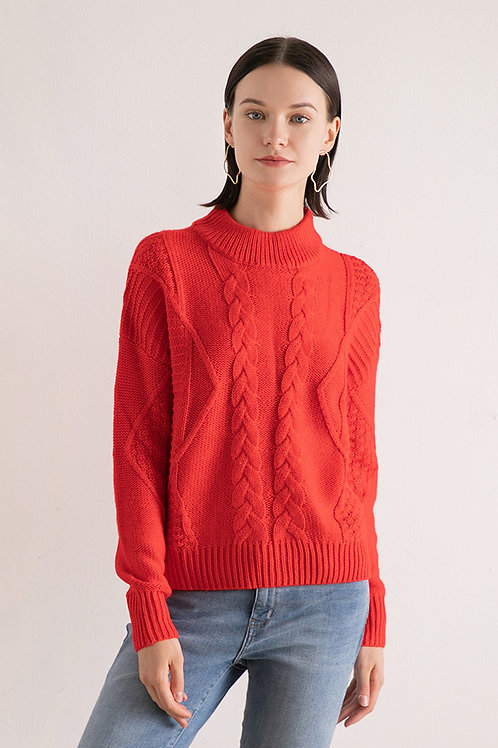 Ecru Emissary | Lara Wool Blend Sweater