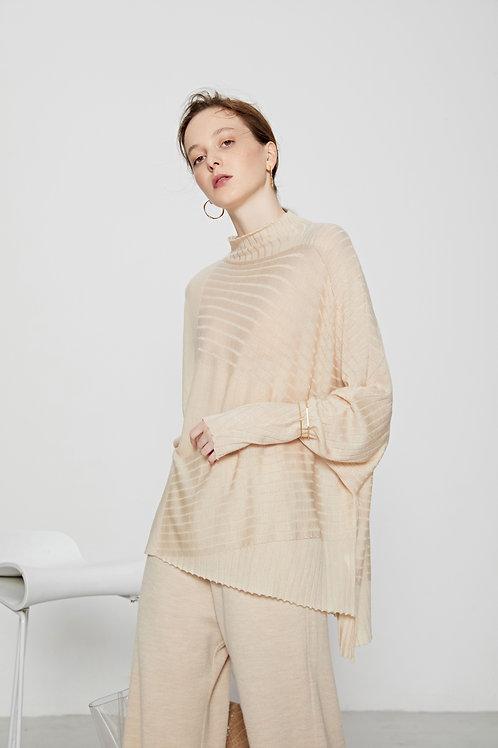 Ecru Emissary | Beige Aliyah Wool Blend Knit