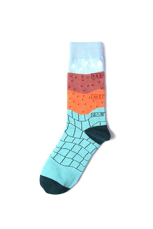 Geography Mid Calf Socks