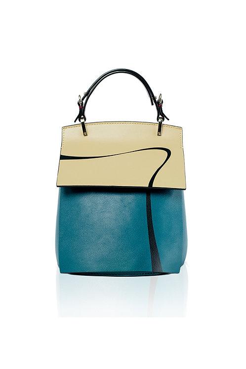 Incomplete | Sea Blue Print Striped Mini Backpack