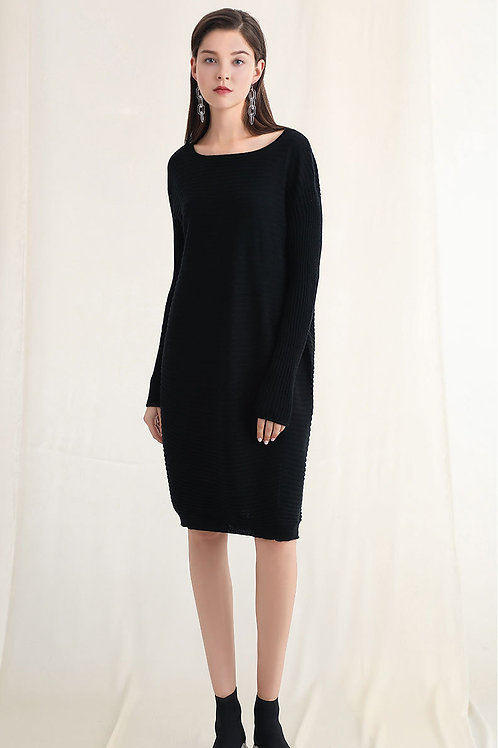 Ecru Emissary | Black Wool Blend Knit Sweater
