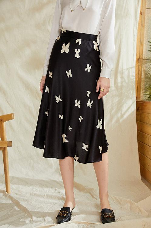Ecru Emissary | Butterfly Silk Skirt