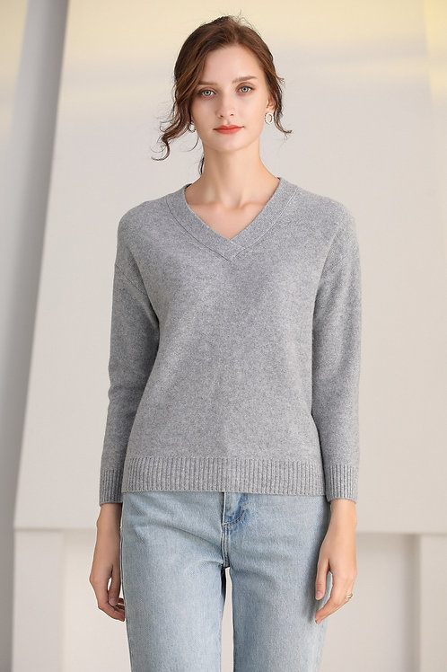 Ecru Emissary | Grey Marcella Wool Sweater