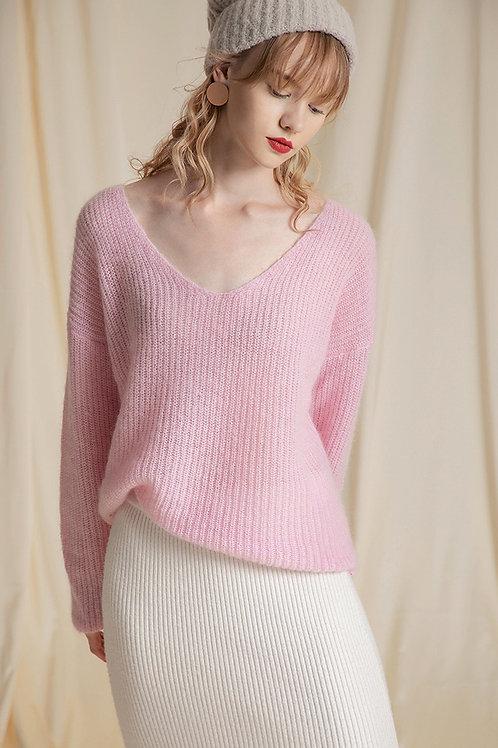 Ecru Emissary | Candy Pink Sweater