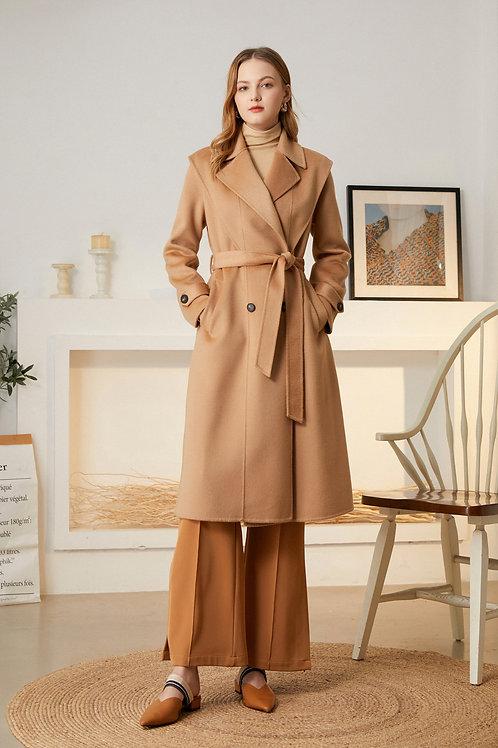 Ecru Emissary   Eudora Wool Coat