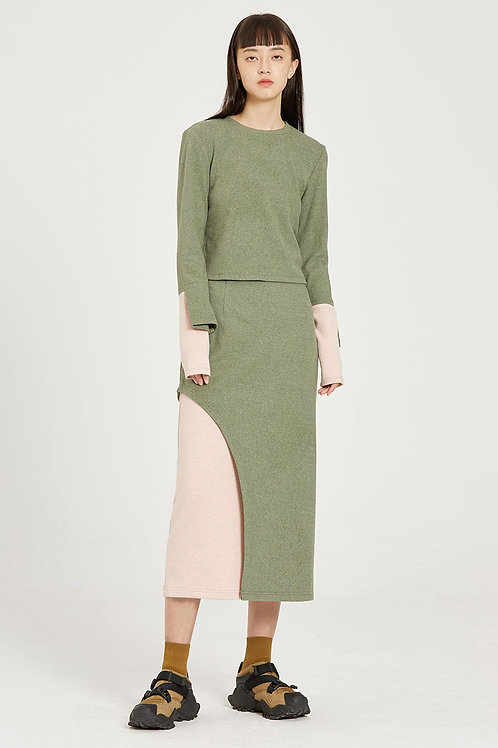 Fussed | Sage Green Arc Pencil Skirt