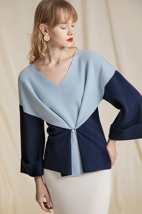 Ecru Emissary | Blue Eleanor Sweater