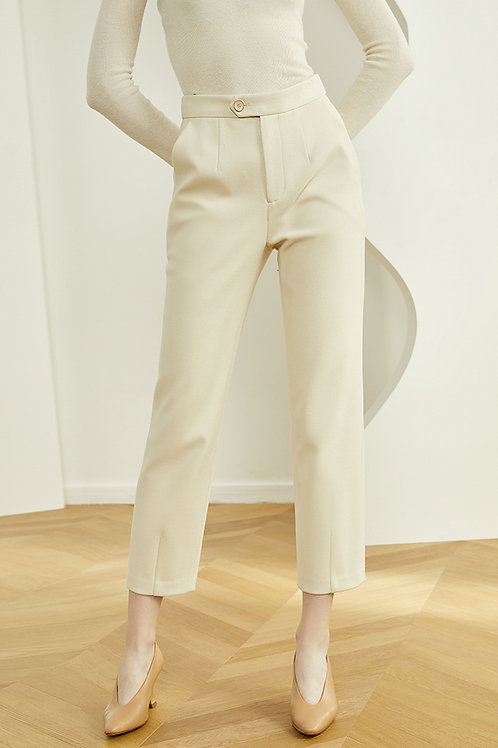 FANSILANEN | Cream Straight Pants