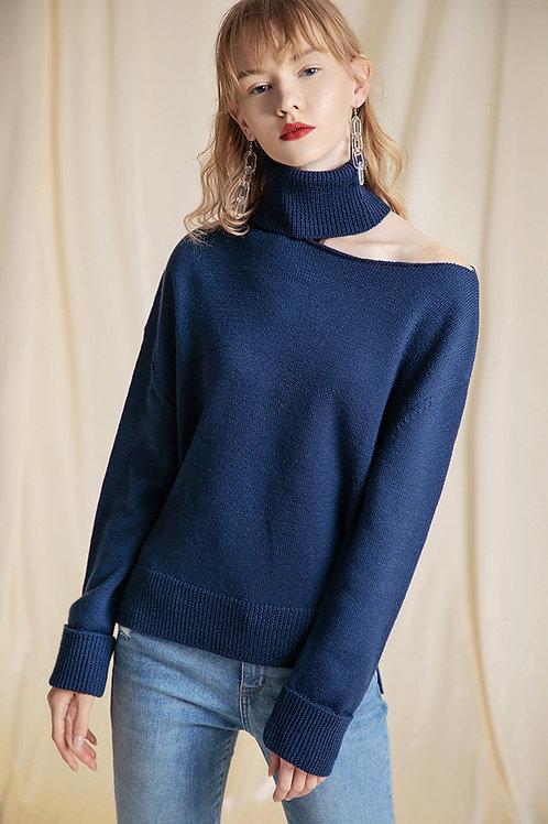 Ecru Emissary | Navy Easton Sweater