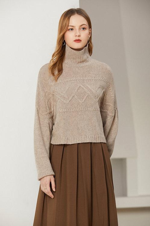 Ecru Emissary | Relief Cropped Sweater