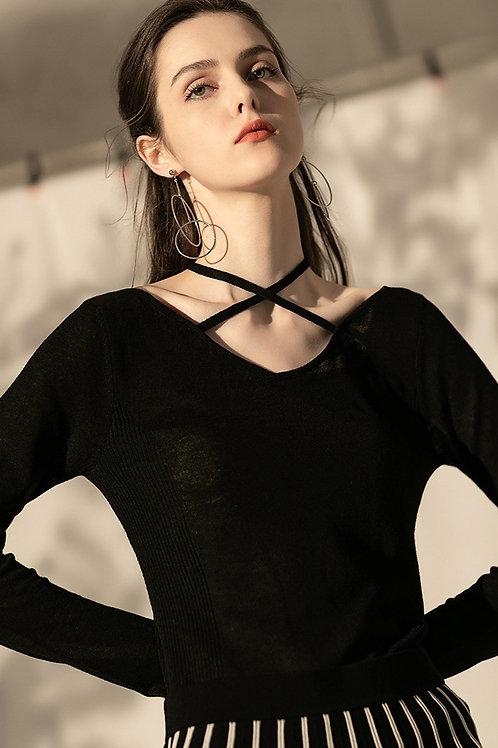 Ecru Emissary | Black Perrine Knit