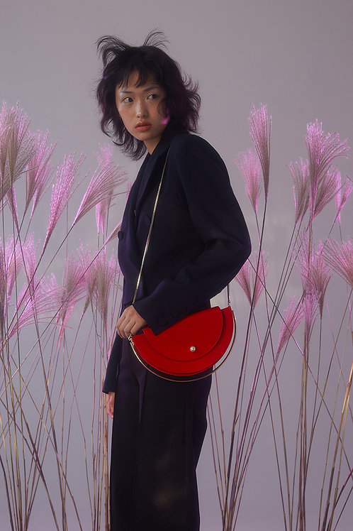 Kitayama Studio | Red Half Moon Bag