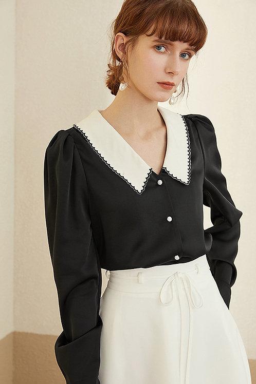 FANSILANEN | Flower Embroidered Shirt