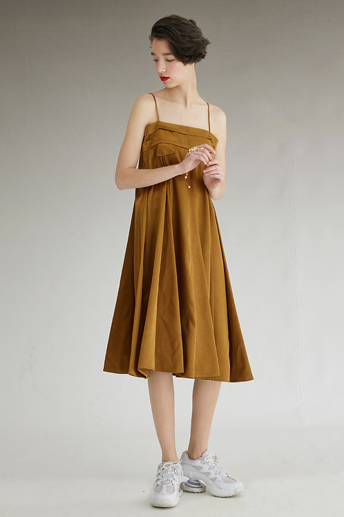 Fussed | Bronze Strapped Silhouette Dress