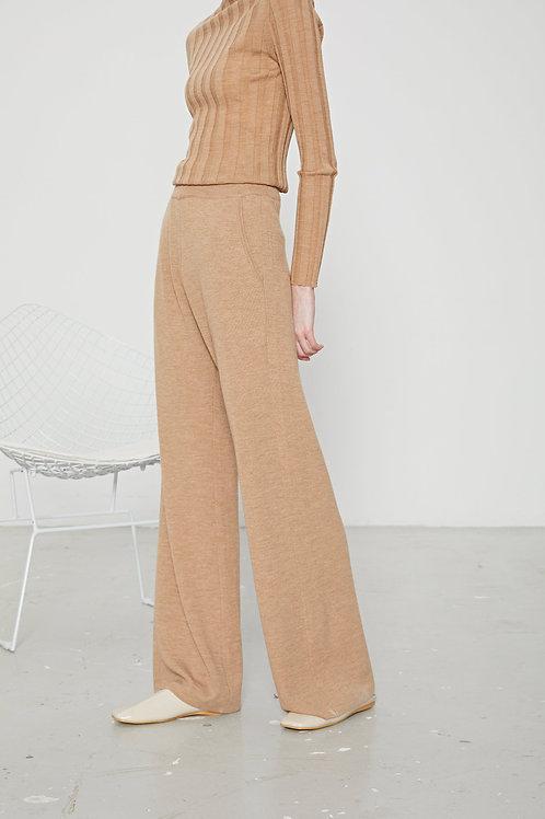 Ecru Emissary | Brown Aliyah Wool Blend Pants